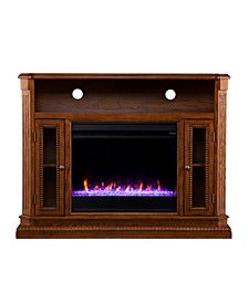Westmoreland Color Changing Electric Fireplace with Storage