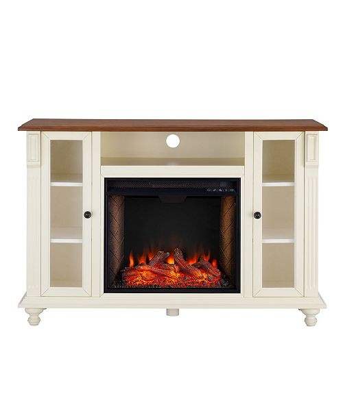 Southern Enterprises Chelmsford Alexa-Enabled Media Fireplace with Storage