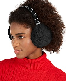 Studded Faux Fur Earmuffs, Created for Macy's