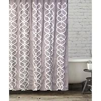 Deals on BCBG MaxAzria's Interlocked Ogee Tufted Shower Curtain
