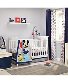 Mickey Mouse 4-Piece Crib Bedding Set