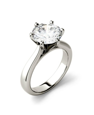 Moissanite Solitaire Engagement Ring 3-1/10 ct. t.w. Diamond Equivalent in 14k White or Yellow Gold