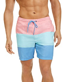 "Men's Colorblocked 7"" Swim Trunks, Created for Macy's"