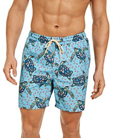 "Men's Turtle 7"" Swim Trunks, Created for Macy's"
