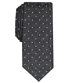 Men's Iris Skinny Floral Dot Tie, Created For Macy's