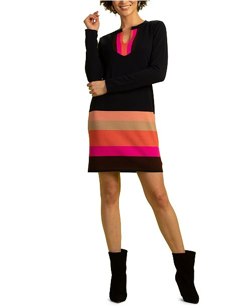 Trina Turk Camp Striped Sweater Dress