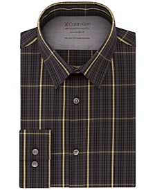 Men's Extreme Slim-Fit Temperature Regulation Check Dress Shirt