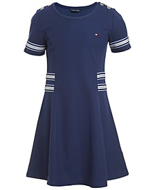 Big Girls Sparkle-Stripe Dress