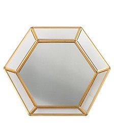 Geometric Edge Mirrored Tray Wedding Guestbook Alternative