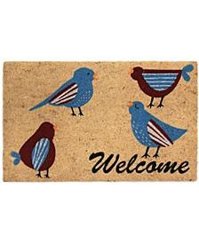 Welcome Birds Coir Door Mat
