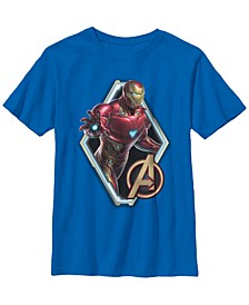 Marvel Big Boys Avengers Endgame Iron Man Logo Short Sleeve T-Shirt