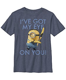 Despicable Me Big Boy's Minions Stuart I've Got My Eye Short Sleeve T-Shirt