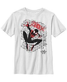 Marvel Big Boy's Spiderverse Spider-Man Graffiti Short Sleeve T-Shirt