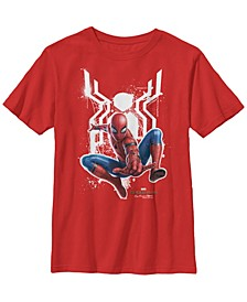 Marvel Big Boy's Spider-Man Far From Home Painted Logo Swing Poster Short Sleeve T-Shirt