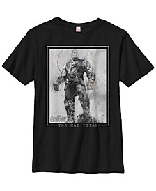 Marvel Big Boys Avengers Infinity War Thanos Sketch Short Sleeve T-Shirt