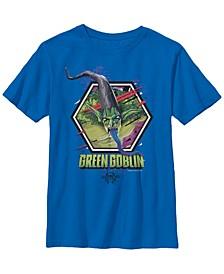 Marvel Big Boys Spiderverse Green Goblin Hexagon Short Sleeve T-Shirt
