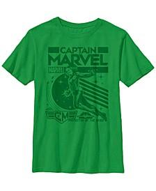 Marvel Big Boy's Captain Marvel Protector of The Skies Short Sleeve T-Shirt