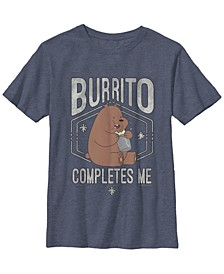 Cartoon Network Big Boy's We Bear Burrito Completes Me Short Sleeve T-Shirt