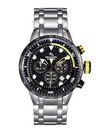 Men's Warrior Performance Timepiece Stainless Steel Chronograph Watch 44mm