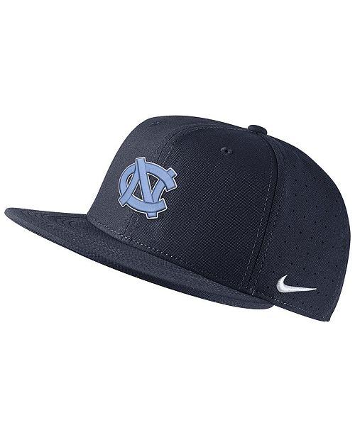 Nike North Carolina Tar Heels Aerobill True Fitted Baseball Cap