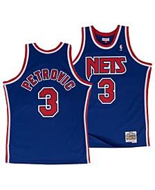 Men's Drazen Petrovic New Jersey Nets Hardwood Classic Swingman Jersey