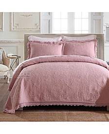Olivia Embroidered Cotton Quilt 3-Pc Set