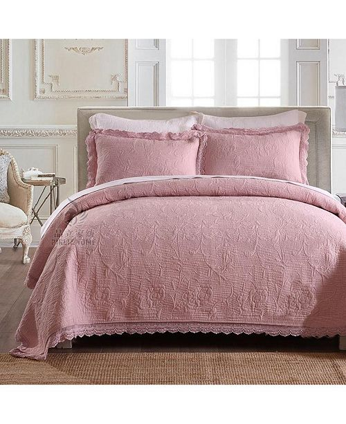 JANEEN HOME Olivia Embroidered Cotton Quilt 3-Pc Set