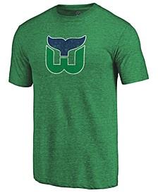 Men's Hartford Whalers Vintage Tri-Blend Prime Logo T-Shirt