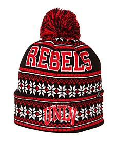 UNLV Runnin Rebels Blitzen Pom Knit Hat