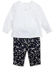 Baby Girls Floral Pants Set