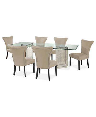 sophia dining room furniture 7 piece set 96 table and 6