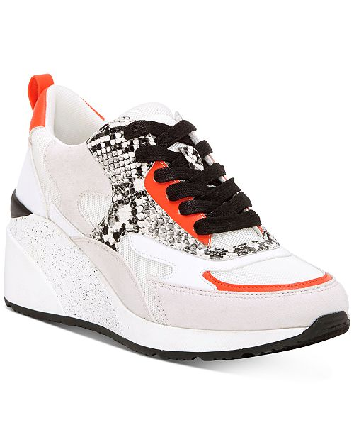 INC International Concepts INC Hadya Lace-Up Wedge Sneakers, Created For Macy's