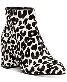INC Women's Omira Pointed-Toe Block-Heel Booties, Created for Macy's