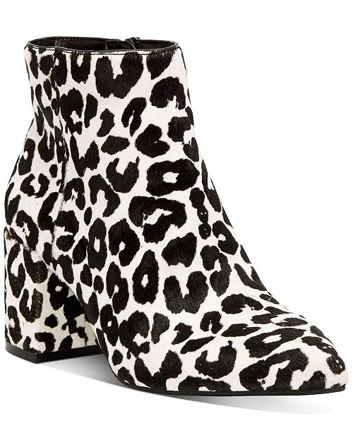 INC International Concepts INC Women's Omira Pointed-Toe Block-Heel Booties, Created For Macy's
