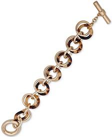 Gold-Tone & Tortoise-Look Circle Flex Bracelet