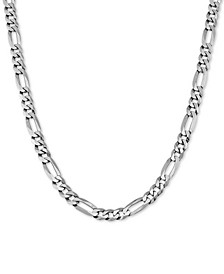 "Figaro Link 22"" Chain Necklace in Sterling Silver"