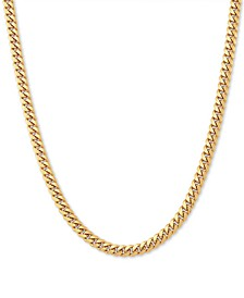 "Cuban Link 22"" Chain Necklace in 18k Gold-Plated Sterling Silver"
