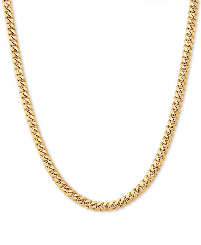 """Macy's - Cuban Link 22"""" Chain Necklace in 18k Gold-Plated Sterling Silver"""