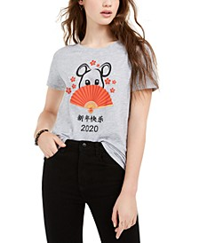 Juniors' Rat Lunar New Year Graphic T-Shirt