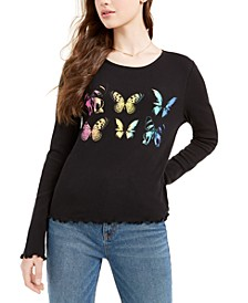 Juniors' Butterfly Top