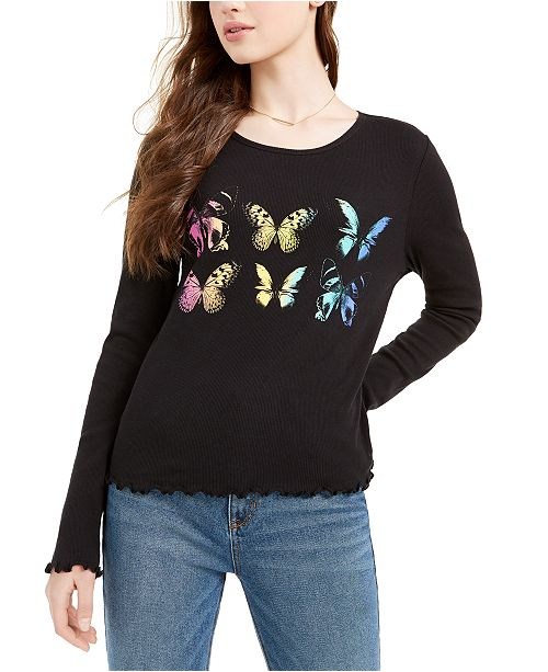 Rebellious One Juniors' Butterfly Top