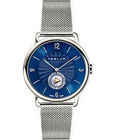 Teslar Unisex Swiss Re-Balance T-1 Stainless Steel Stainless Steel Mesh Bracelet Watch 40mm