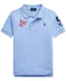 Toddler Boys Nautical Cotton Mesh Polo Shirt
