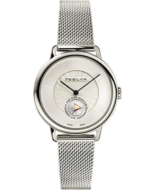 Teslar Women's Swiss Re-Balance T-1 Stainless Steel Bracelet Watch 36mm
