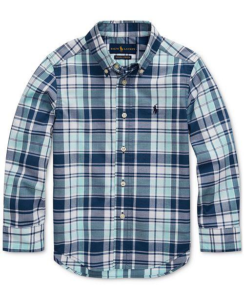 Polo Ralph Lauren Little Boys Stretch Cotton Poplin Shirt