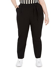 Trendy Plus Tie-Waist Pants, Created For Macy's