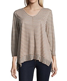 Burnout-Striped Top