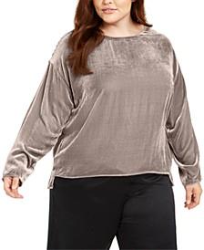 Plus Size Velvet Top