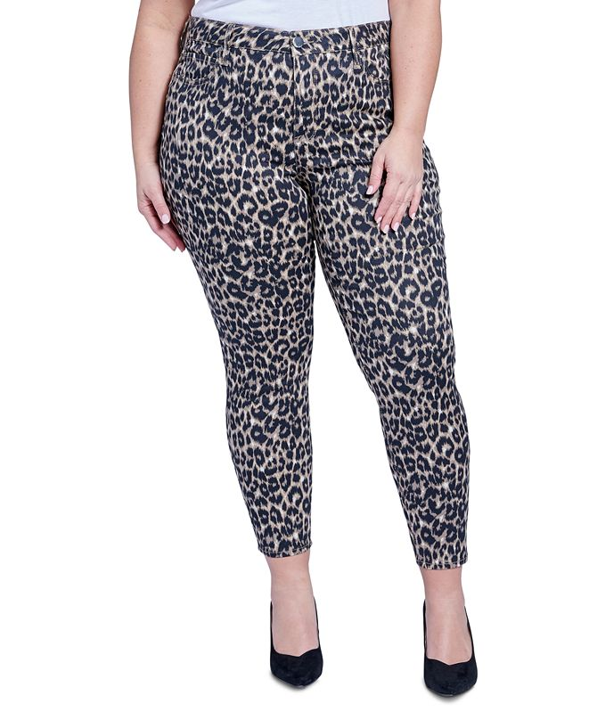 Seven7 Jeans Trendy Plus Size Ultra-High-Rise Printed Skinny Jeans
