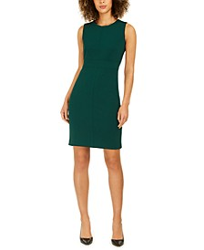 Jewel-Neck Sheath Dress